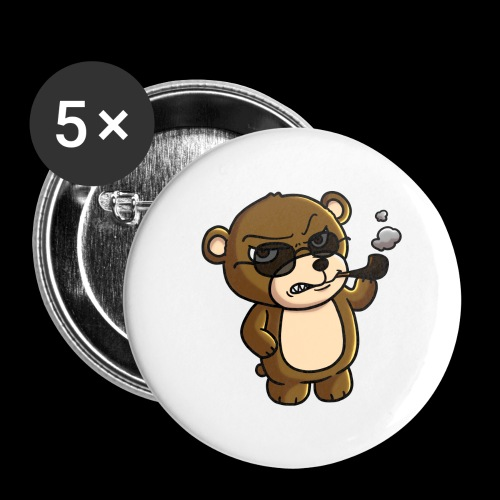 AngryTeddy - Buttons large 2.2''/56 mm (5-pack)