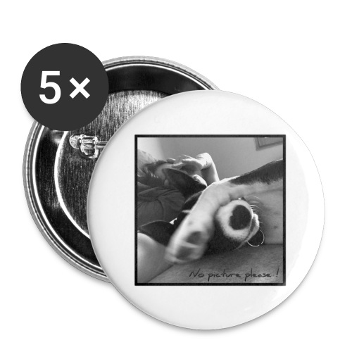 Pleasenopicture - Lot de 5 grands badges (56 mm)