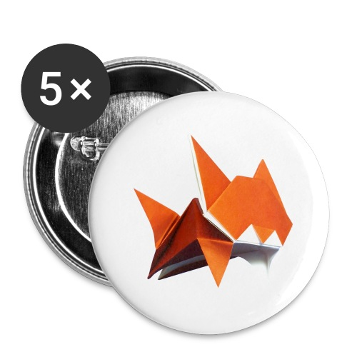 Jumping Cat Origami - Cat - Gato - Katze - Gatto - Buttons large 2.2''/56 mm(5-pack)