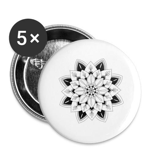 Mandala interior - Paquete de 5 chapas grandes (56 mm)