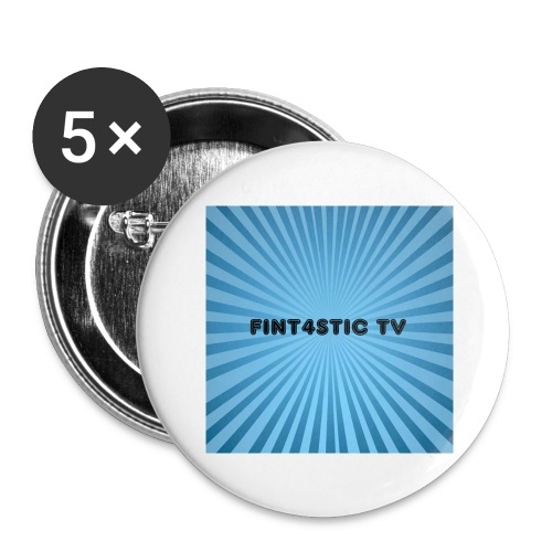 FINT4STIC Sunburst - Buttons large 2.2''/56 mm (5-pack)