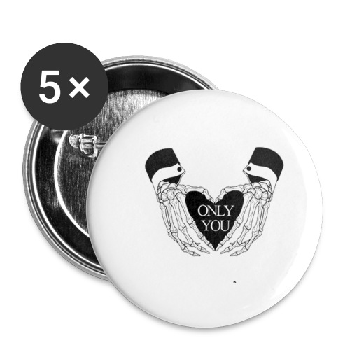 only you - Confezione da 5 spille grandi (56 mm)