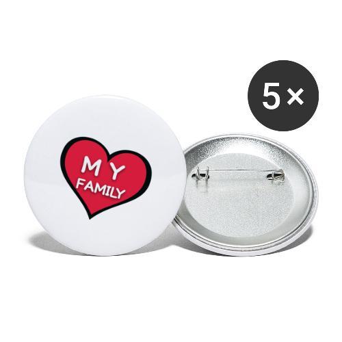 My Family - Lot de 5 grands badges (56 mm)