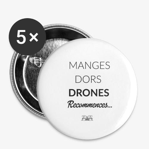 badge pour droneurs - Lot de 5 grands badges (56 mm)