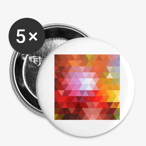 TRIFACE motif - Lot de 5 grands badges (56 mm)