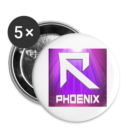 RTrixx Phoenix Logo - Buttons large 2.2''/56 mm (5-pack)