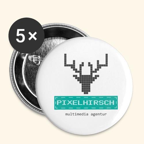 PIXELHIRSCH - Logo - Buttons groß 56 mm (5er Pack)