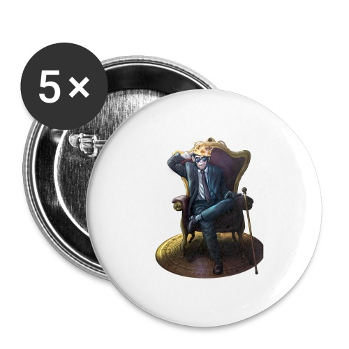Bitcoin Monkey King - Gamma Edition - Buttons groß 56 mm (5er Pack)