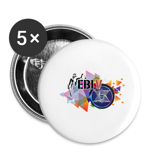 LOGOS - Buttons large 2.2''/56 mm (5-pack)