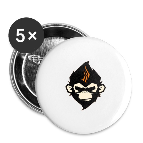 MonkieGames - Buttons groot 56 mm (5-pack)
