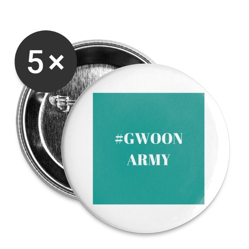 #gwoonarmy - Buttons groot 56 mm (5-pack)