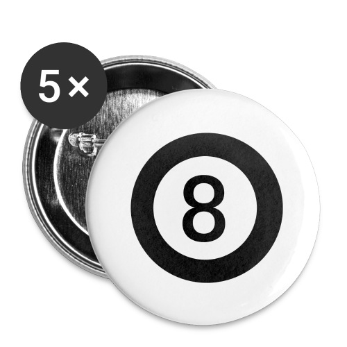 Black 8 - Buttons large 2.2''/56 mm(5-pack)