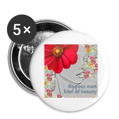 Girly - Lot de 5 grands badges (56 mm)
