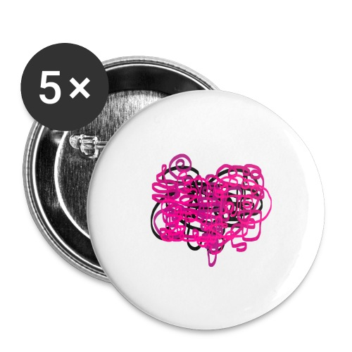 delicious pink - Buttons large 2.2''/56 mm (5-pack)