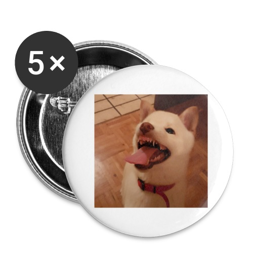 Mein Hund xD - Buttons groß 56 mm (5er Pack)