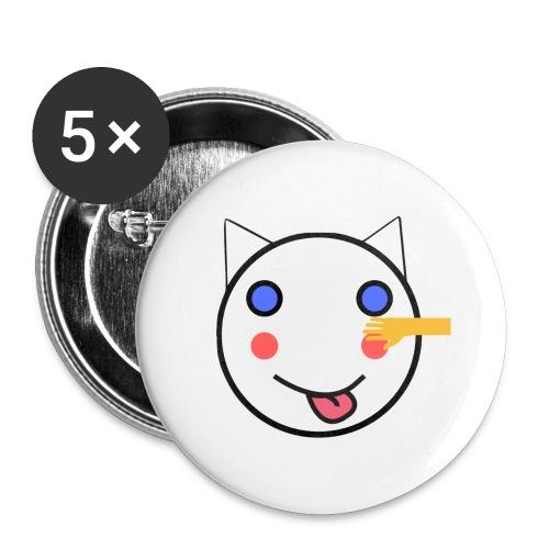 Alf Cat With Friend | Alf Da Cat - Buttons large 2.2''/56 mm(5-pack)