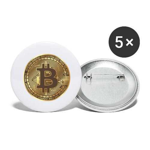 BTC - Lot de 5 grands badges (56 mm)