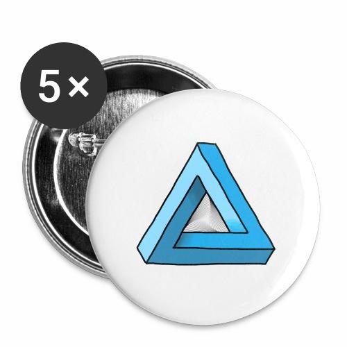 Triangular - Buttons groß 56 mm (5er Pack)