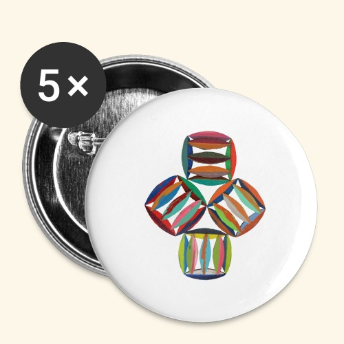 square2square - Buttons groot 56 mm (5-pack)