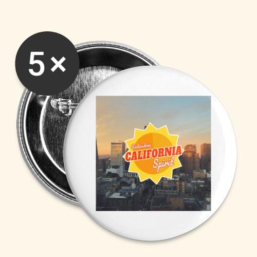 California Spirit City - Lot de 5 grands badges (56 mm)