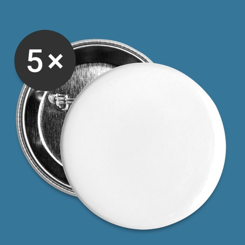 BlueSparks - White - Buttons large 2.2''/56 mm(5-pack)