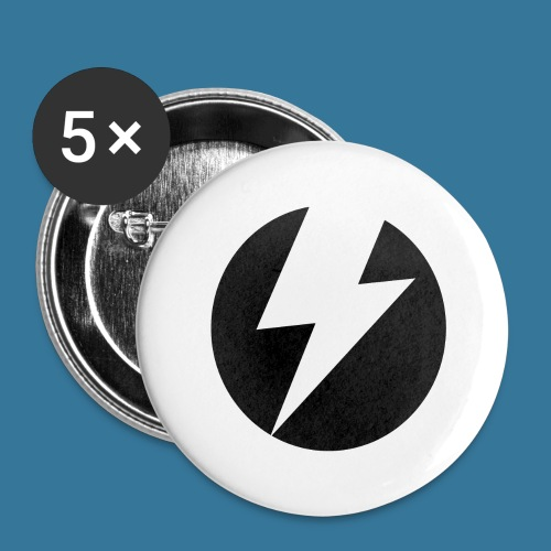 BlueSparks - Inverted - Buttons large 2.2''/56 mm(5-pack)