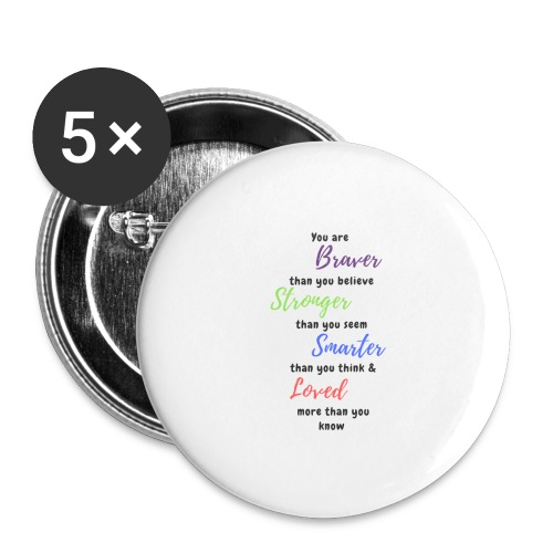 Inspirational - Buttons large 2.2''/56 mm (5-pack)