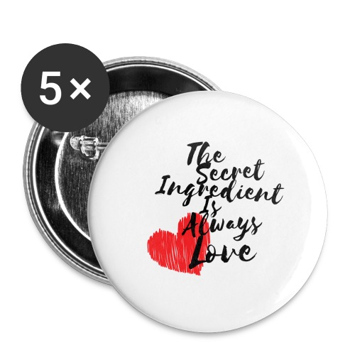 Secret Ingredient - Buttons large 2.2''/56 mm (5-pack)