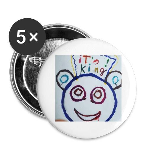 de panda beer - Buttons groot 56 mm (5-pack)