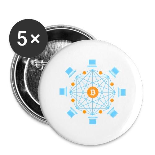 Blockchain - Rintamerkit isot 56 mm (5kpl pakkauksessa)