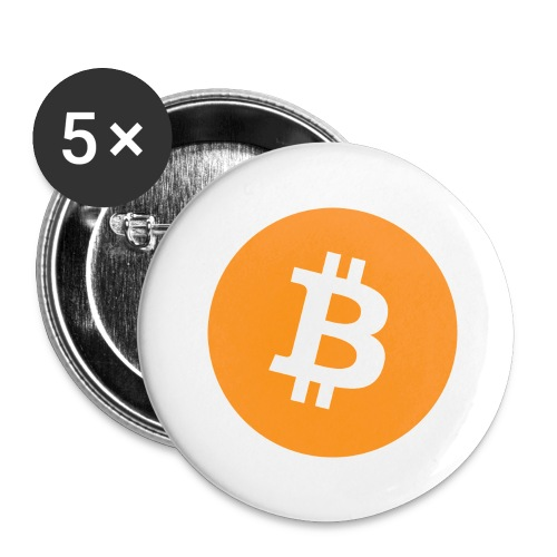 Bitcoin - Buttons large 2.2''/56 mm(5-pack)