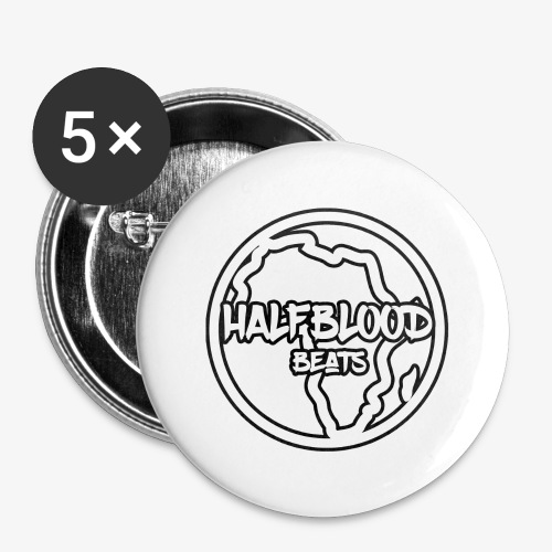 halfbloodAfrica - Buttons groot 56 mm (5-pack)