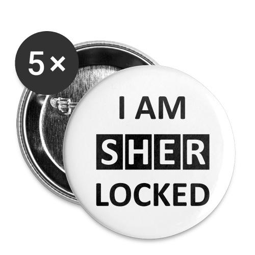 I AM SHERLOCKED - Buttons groß 56 mm (5er Pack)