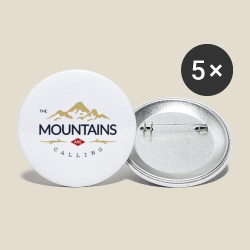 Outdoor mountain - Lot de 5 grands badges (56 mm)
