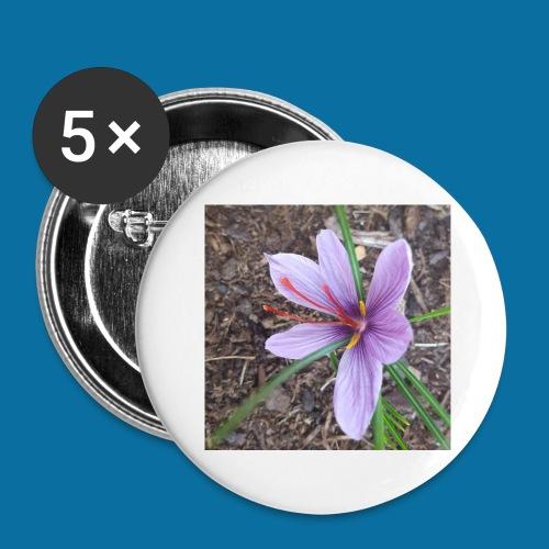 Safran - Lot de 5 grands badges (56 mm)