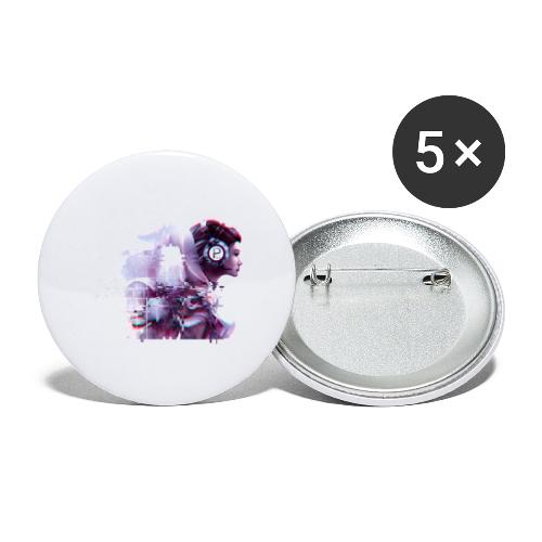 Pailygames6 - Buttons groß 56 mm (5er Pack)