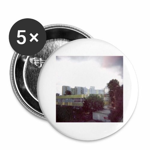 Original Artist design * Blocks - Buttons large 2.2''/56 mm(5-pack)