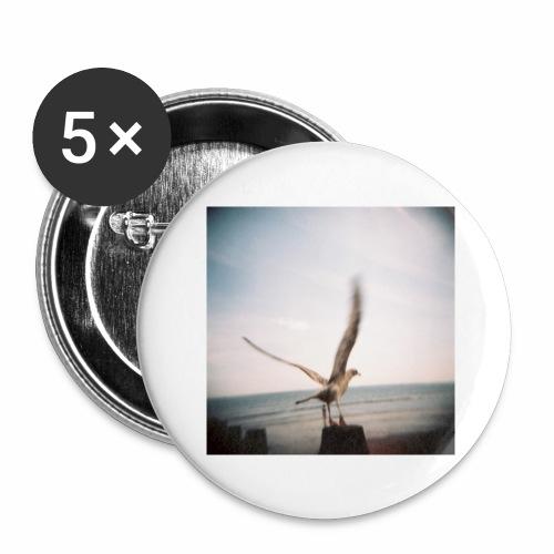 Original Artist design * Seagull - Buttons large 2.2''/56 mm(5-pack)
