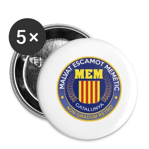 MEM CIA LogoULTIM - Paquete de 5 chapas grandes (56 mm)