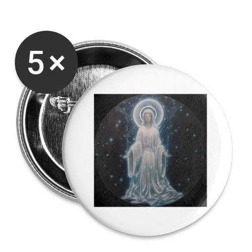 圣母玛利亚 Notre Dame by Jean Libon (Noir) - Lot de 5 grands badges (56 mm)