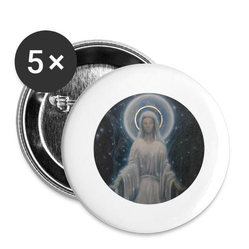 圣母玛利亚 Notre Dame by Jean Libon - Lot de 5 grands badges (56 mm)