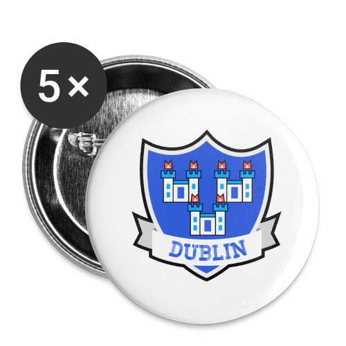 Dublin - Eire Apparel - Buttons large 2.2''/56 mm (5-pack)