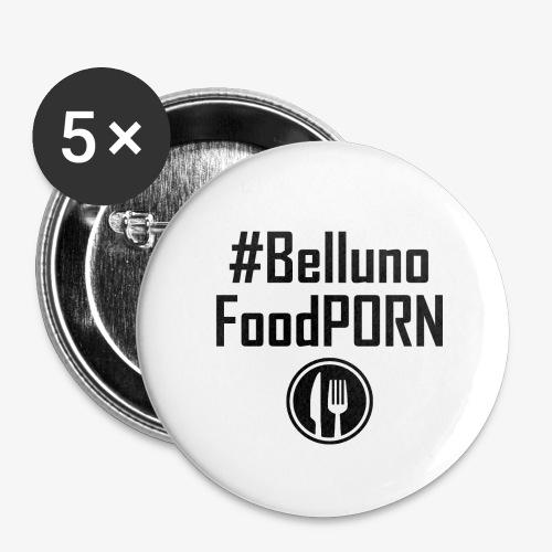 Belluno FOOD Porn - Confezione da 5 spille grandi (56 mm)