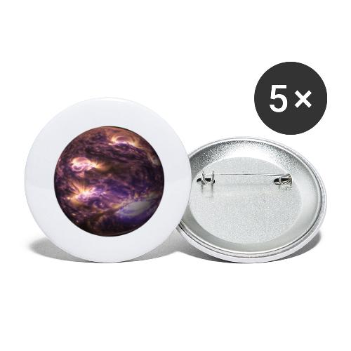 planet - Buttons groß 56 mm (5er Pack)