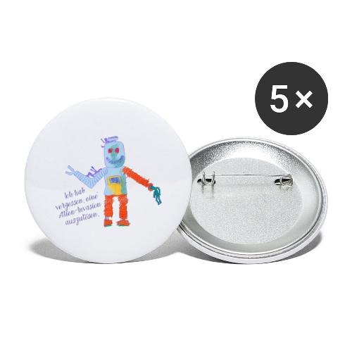 Alien Invasion - Buttons groß 56 mm (5er Pack)
