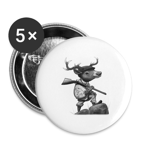 Deer Hunter - Buttons groß 56 mm (5er Pack)