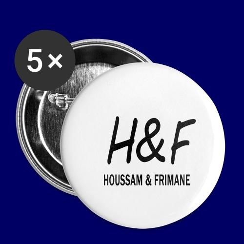 H&F - Confezione da 5 spille grandi (56 mm)