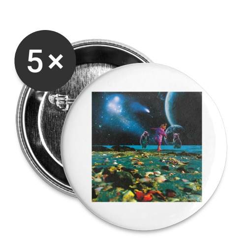 Child of the cosmos - Stor pin 56 mm (5-er pakke)