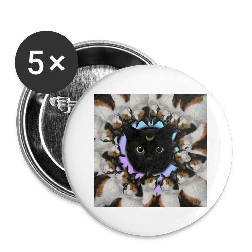 crazy catzzz - Stor pin 56 mm (5-er pakke)