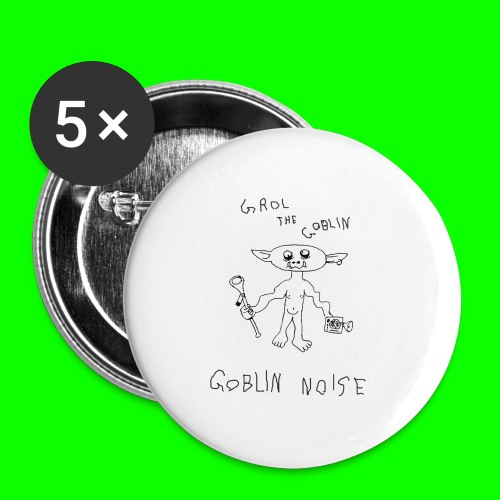 Goblin Noise - Buttons large 2.2''/56 mm(5-pack)